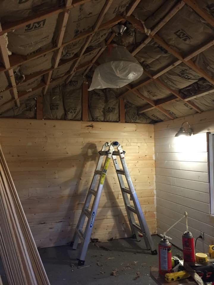 Insulation done, now boards...